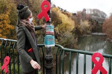 Cartel alegórico al VIH