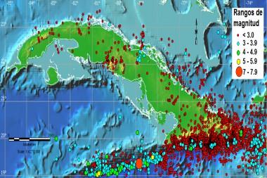 Figura 1. Mapa de epicentros de sismos registrados durante el año 2020 en el territorio nacional y su entorno.