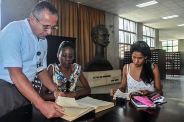 Día del Bibliotecario cubano, en la Biblioteca Nacional de Cuba José Martí. Foto: Ariel Cecilio Lemus