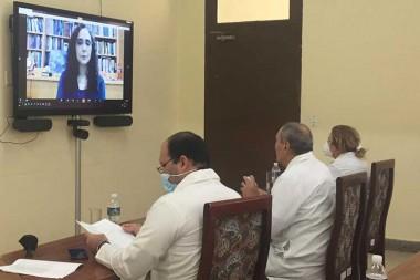 Creadores de las Soberanas presentan a expertos de Universidad de Harvard desarrollo de vacunas cubanas contra la COVID-19