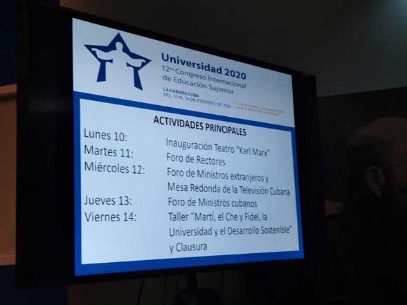 Cartel alegórico al Congreso cubano Universidad 2020
