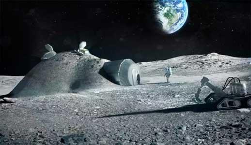 Concepto de base lunar – ESA/ Ilustración en europapress.es
