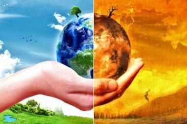 Imagen alegórica al calentamiento global