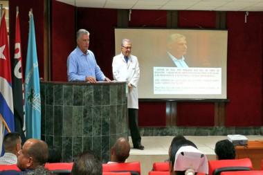 Díaz-Canel visita  instituciones de salud habaneras
