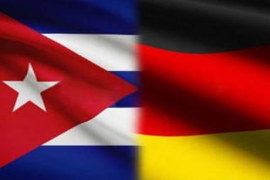 Banderas de Cuba y Alemania