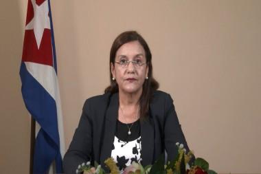 Elba Rosa Pérez Montoya, ministra de Ciencia, Tecnología y Medio Ambiente de Cuba