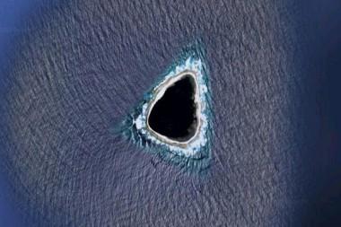 Imagen de la isla Vostok en Google Maps. Foto: Reddit.
